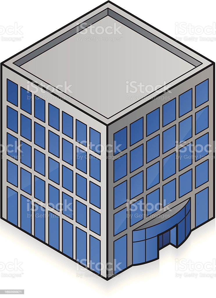 Isometric Office Building royalty-free stock vector art
