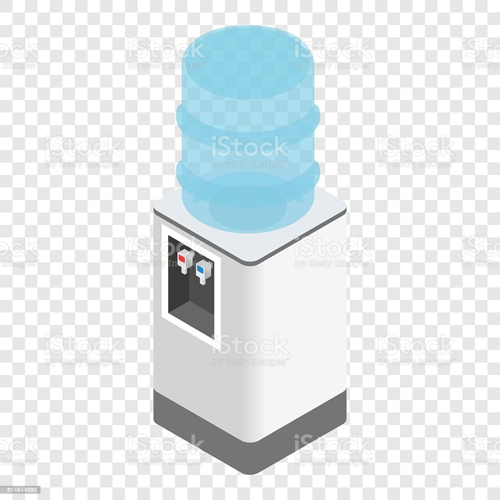 Isometric office water cooler vector art illustration