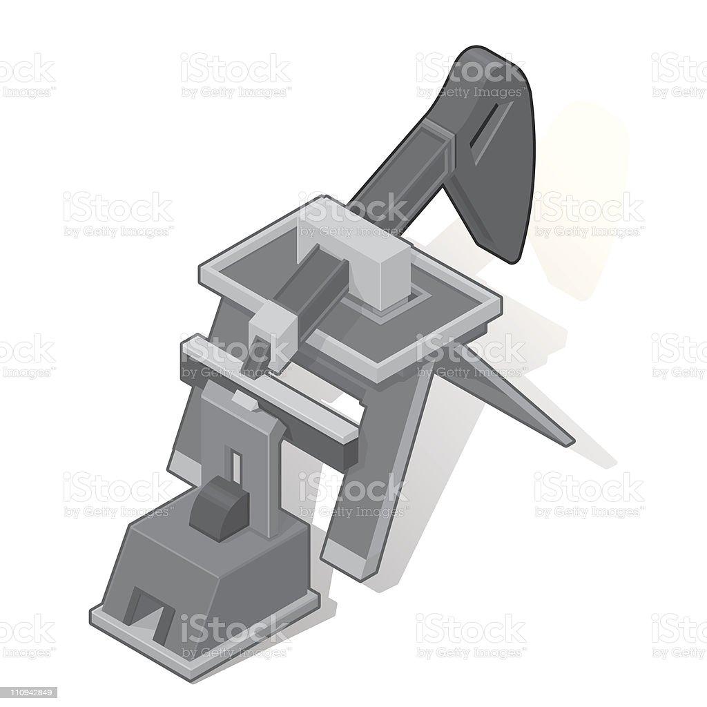 Isometric Oil Derrick vector art illustration