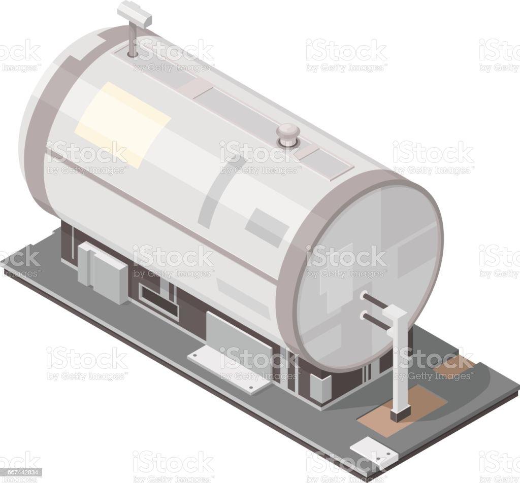 Isometric Oil Tank icon. vector art illustration