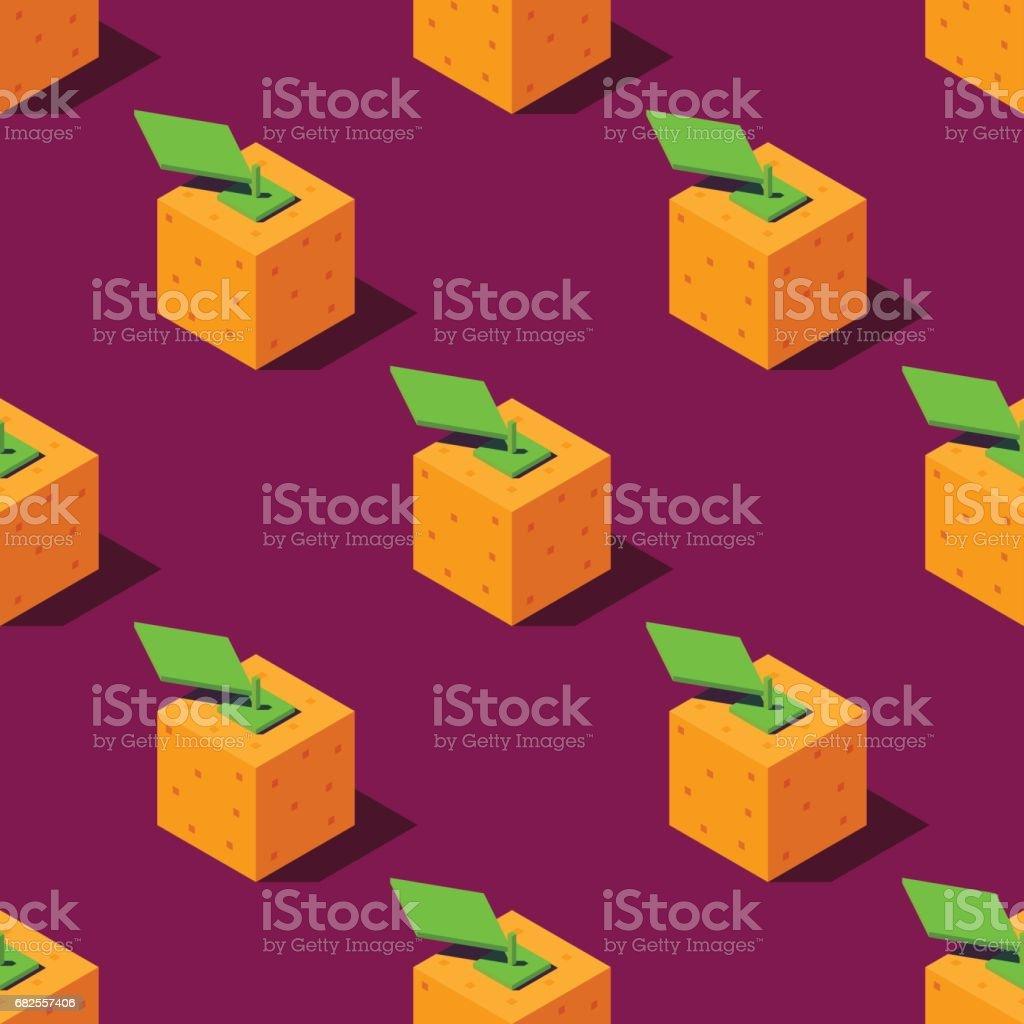 Isometric oranges illustration. vector art illustration