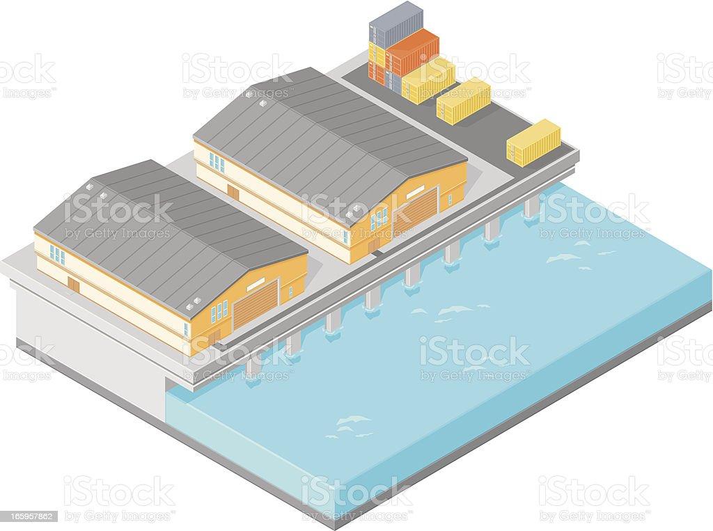 Isometric Pier vector art illustration