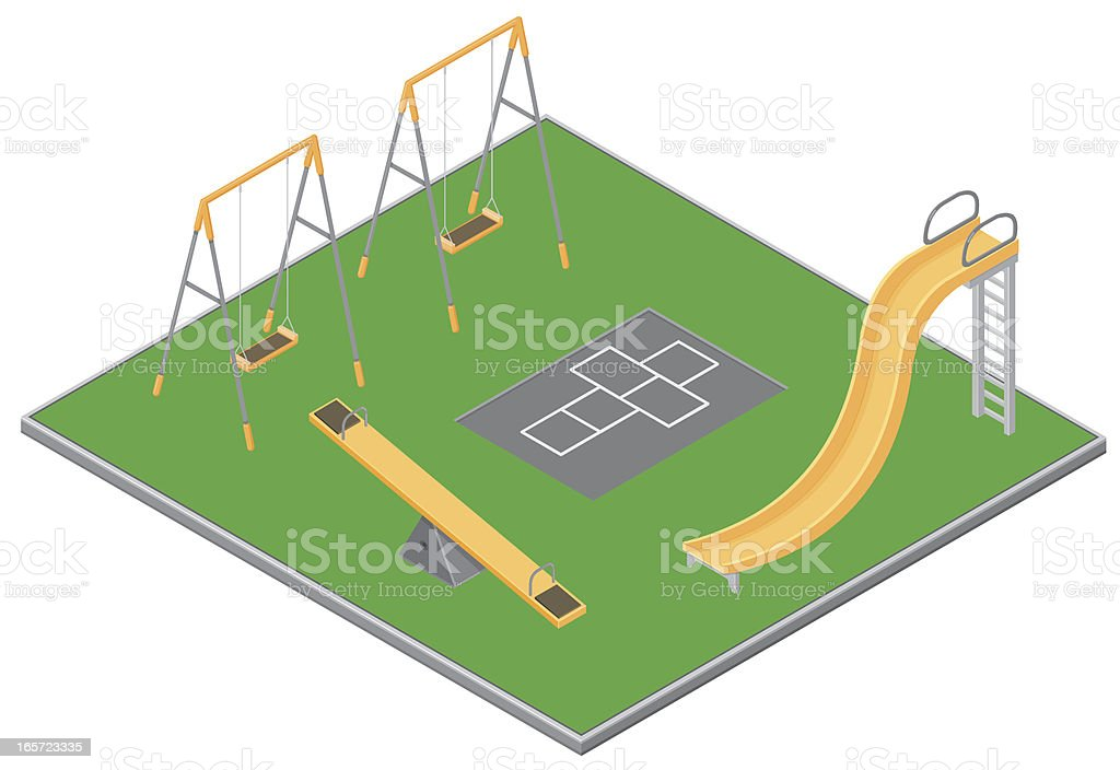 Isometric Playground royalty-free stock vector art
