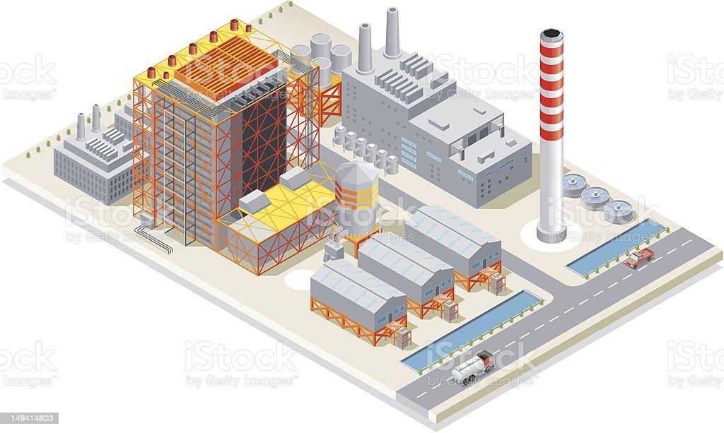 Isometric, Power Station royalty-free stock vector art