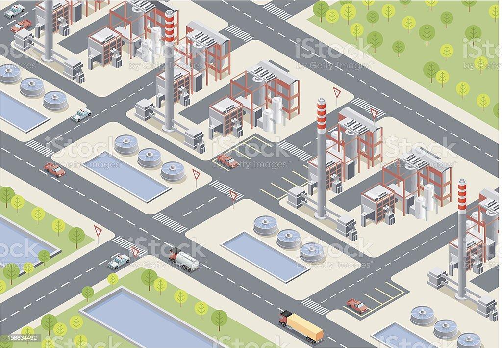 Isometric, Power Station vector art illustration