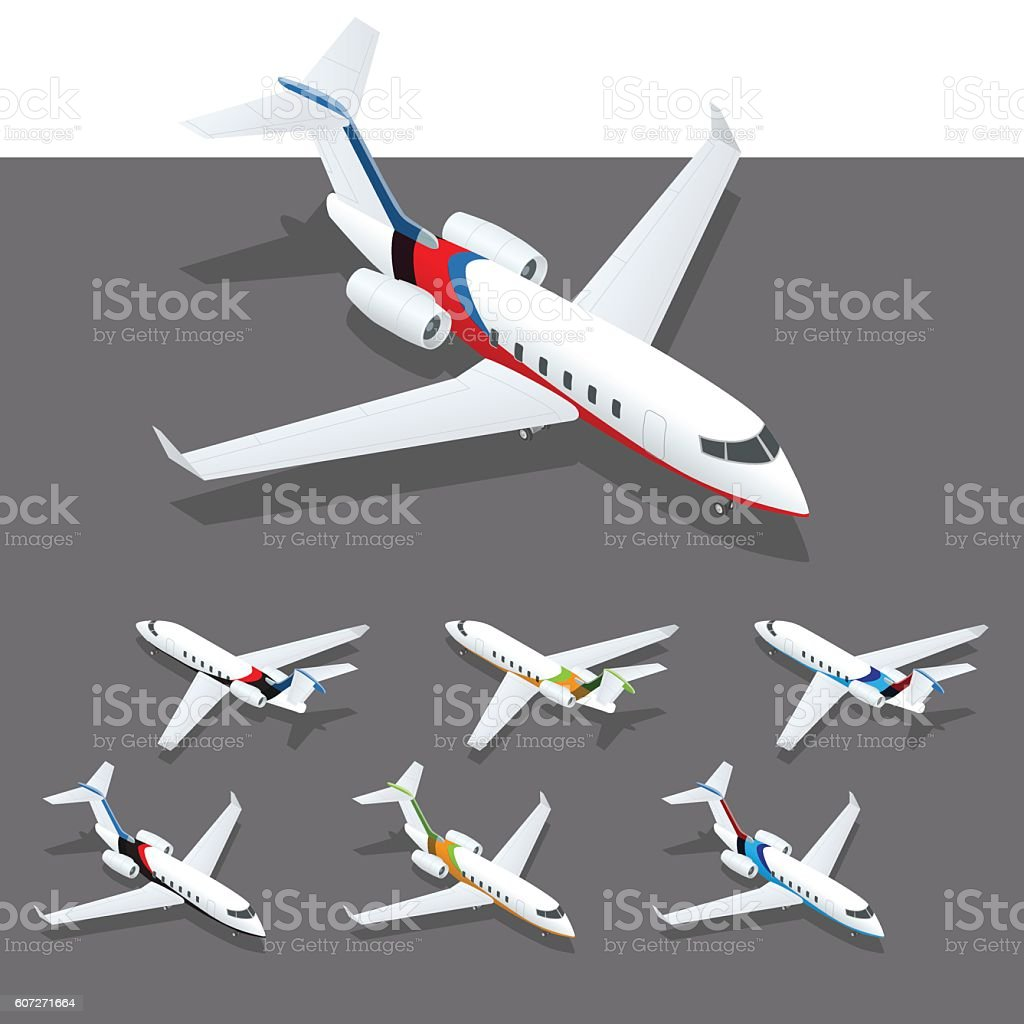 Corporate Jet Clip Art Vector Images Amp Illustrations  IStock
