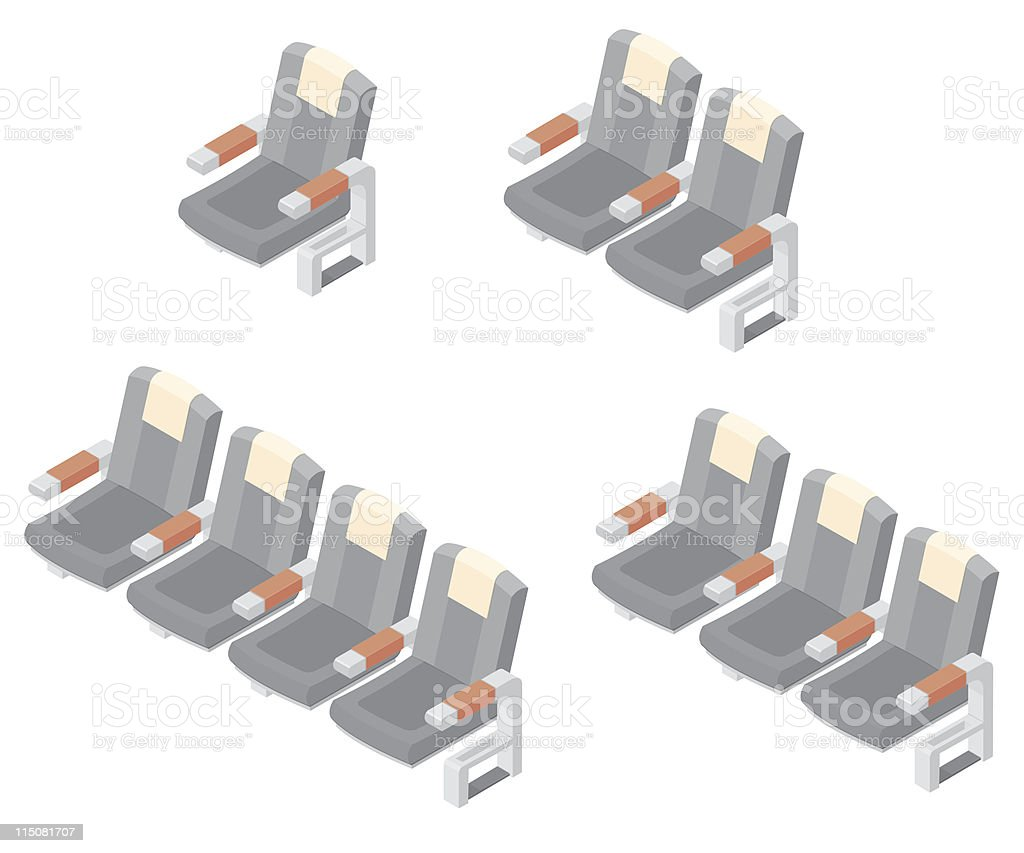 Isometric Seating royalty-free stock vector art