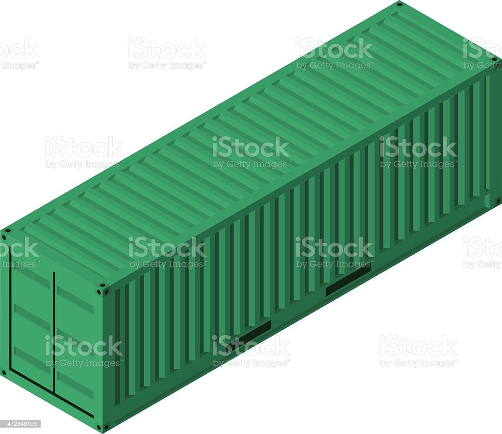 Isometric Shipping Container vector art illustration