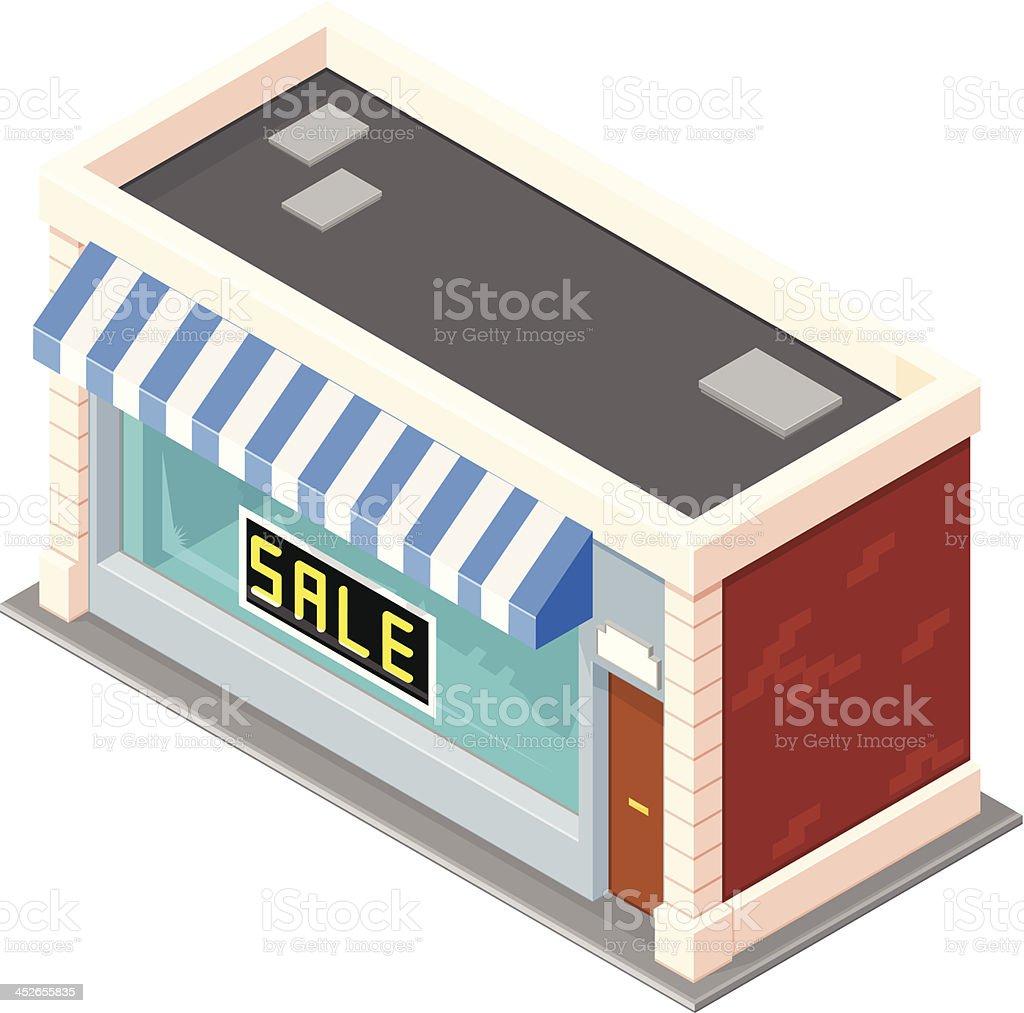 Isometric Shop Sale royalty-free stock vector art