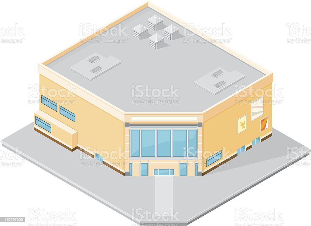 Isometric shopping mall. royalty-free stock vector art