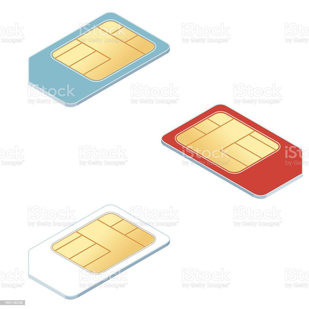 Isometric Sim card vector art illustration