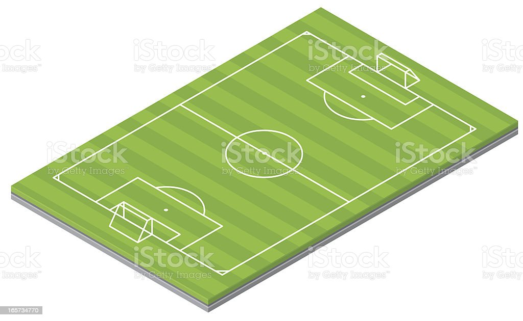 Isometric Soccer Pitch royalty-free stock vector art