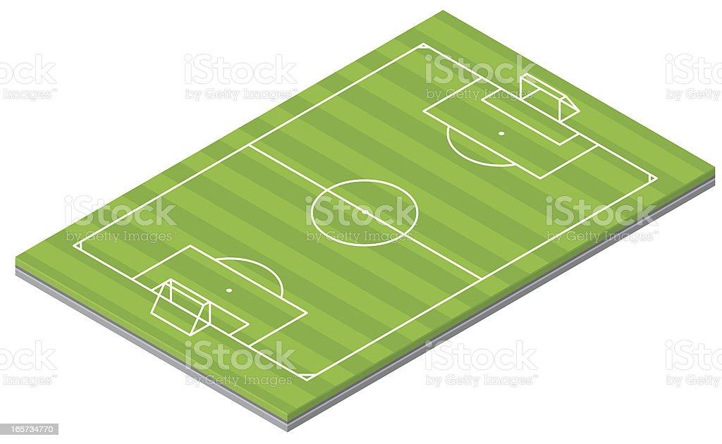 Isometric Soccer Pitch vector art illustration