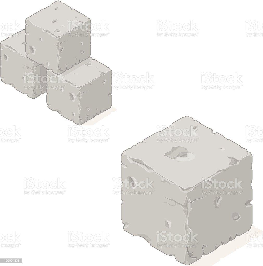 Isometric Sone Building Blocks vector art illustration
