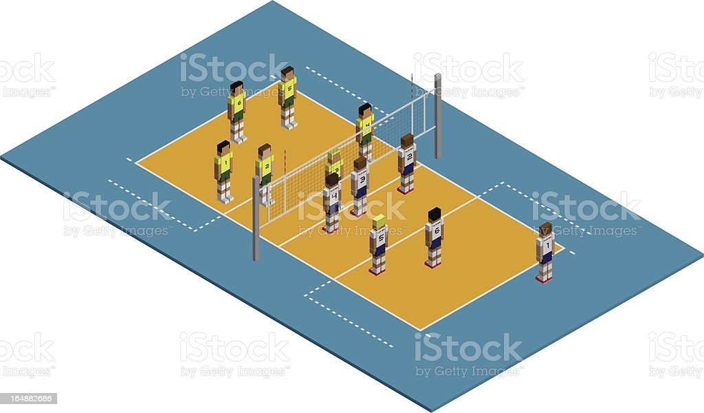 isometric sports | volleyball royalty-free stock vector art