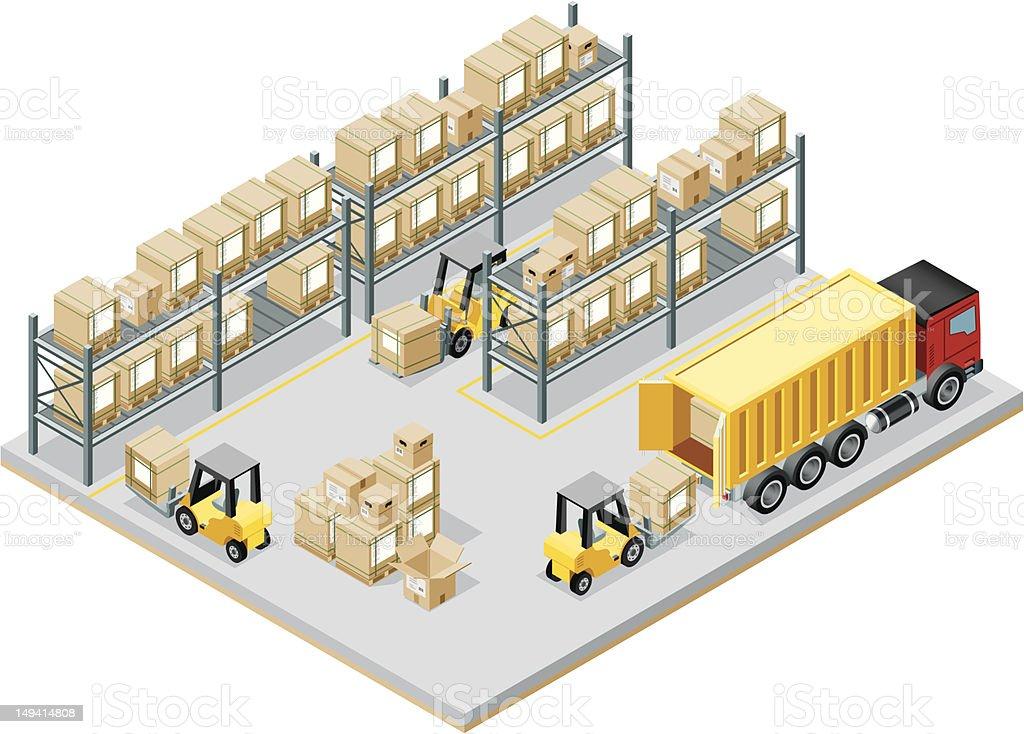 Isometric, Storage Room vector art illustration