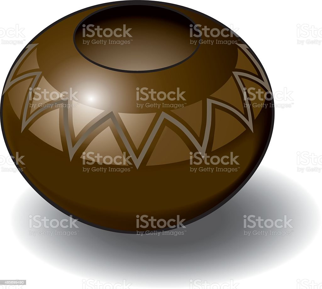Isometric Vector Illustration of a Zulu Pot vector art illustration
