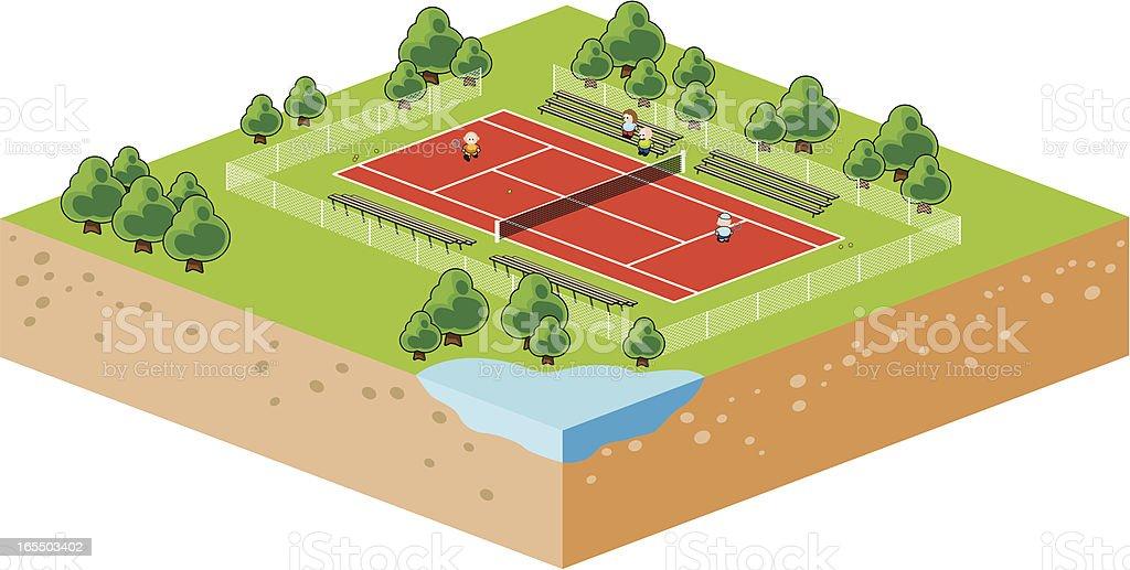 Isometric vector illustration of tennis royalty-free stock vector art