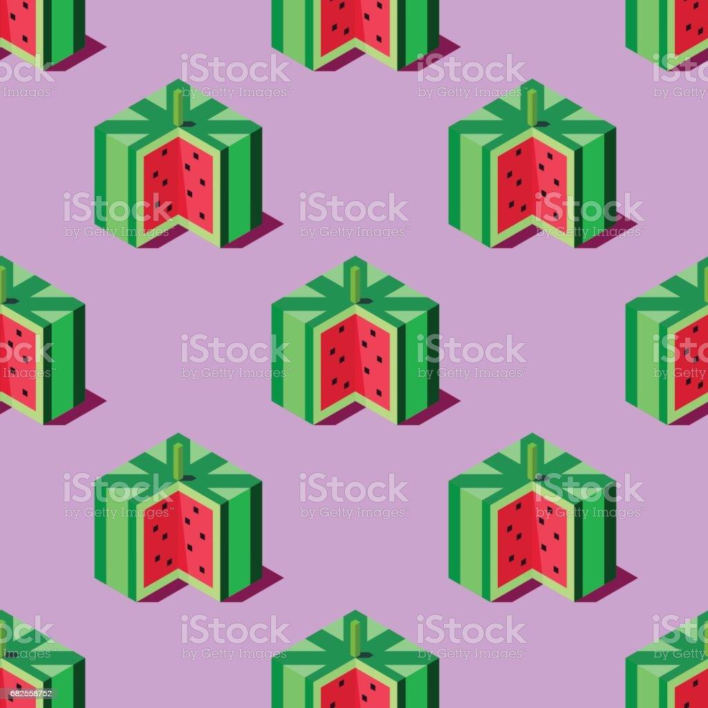 Isometric watermelons illustration. vector art illustration