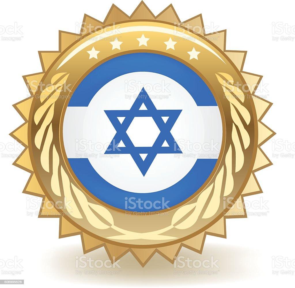 Israel Badge vector art illustration