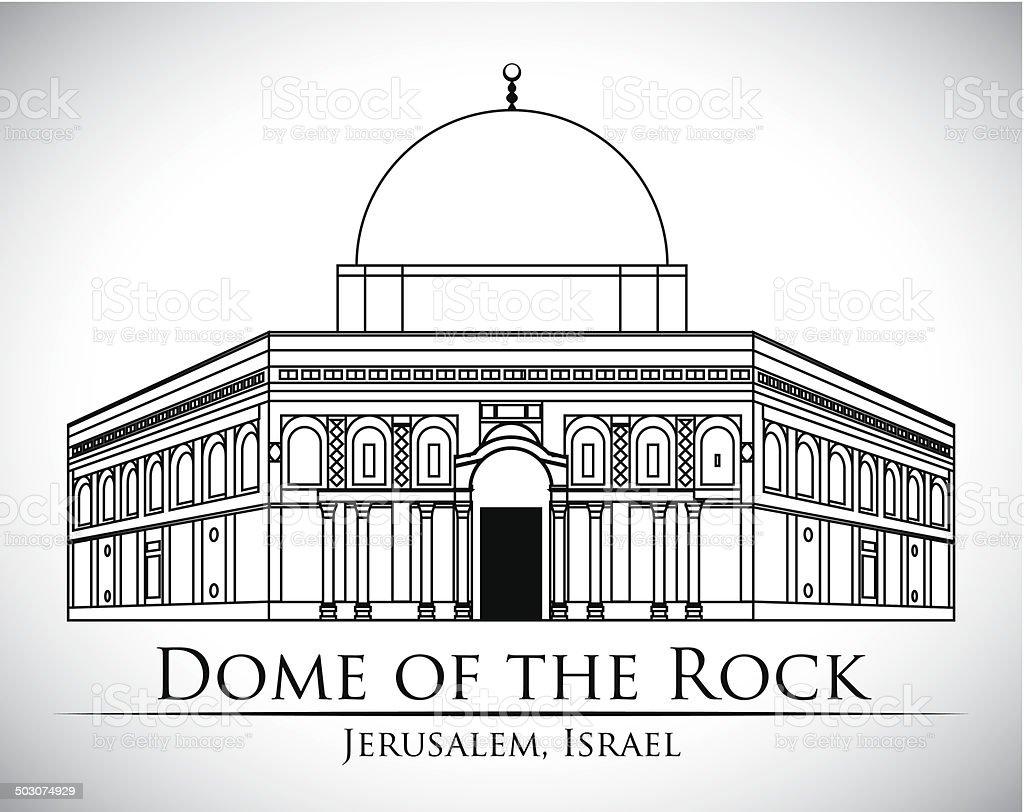 Israel design vector art illustration