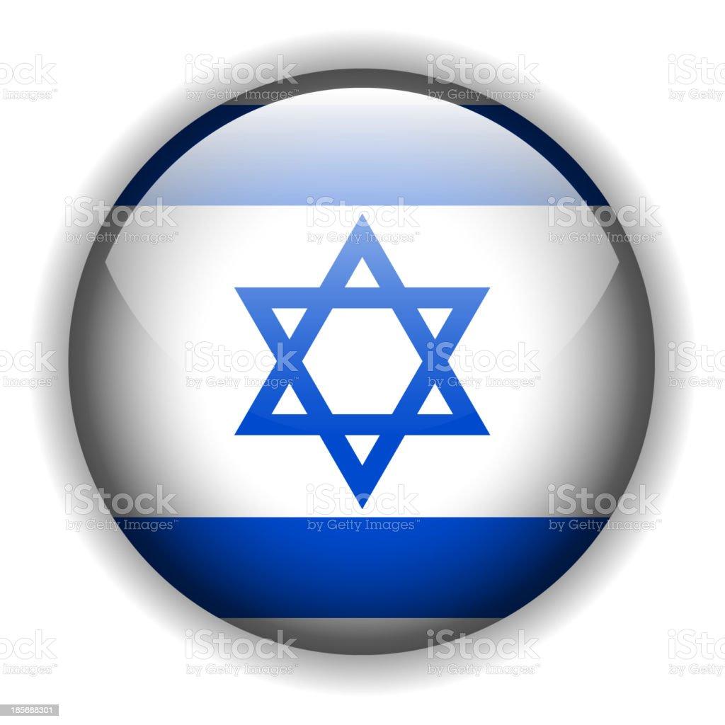 Israel flag button, vector royalty-free stock vector art