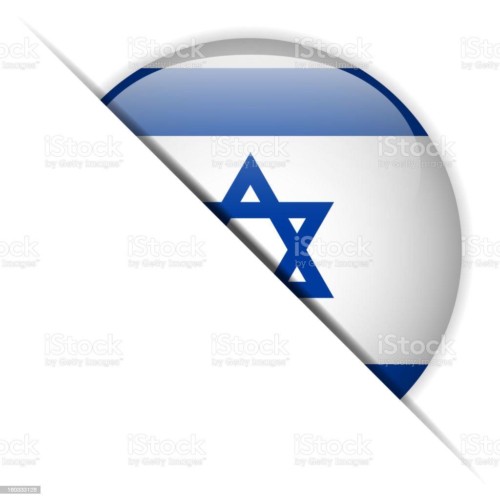 Israel Flag Glossy Button Hidden royalty-free stock vector art