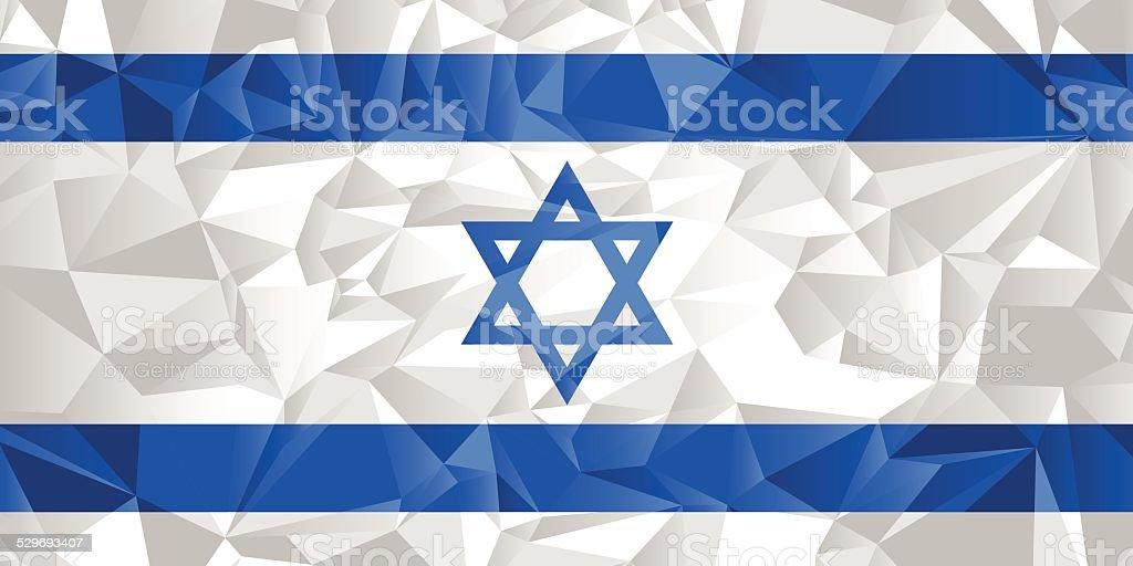 Israel Flag vector art illustration