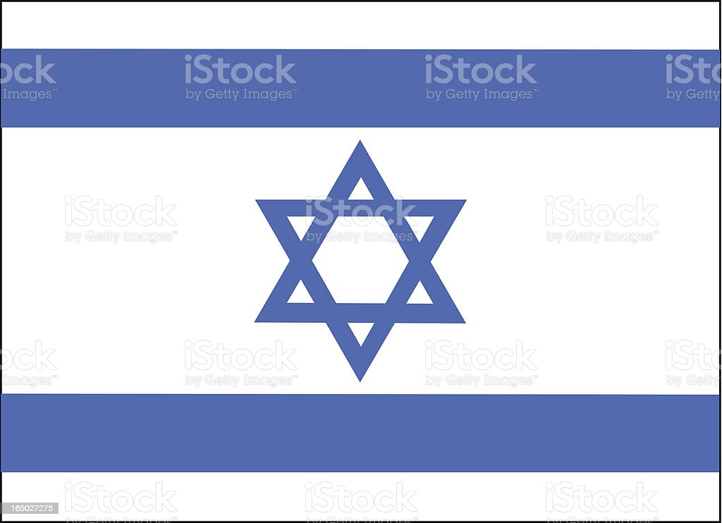 Israel Flag Vector vector art illustration