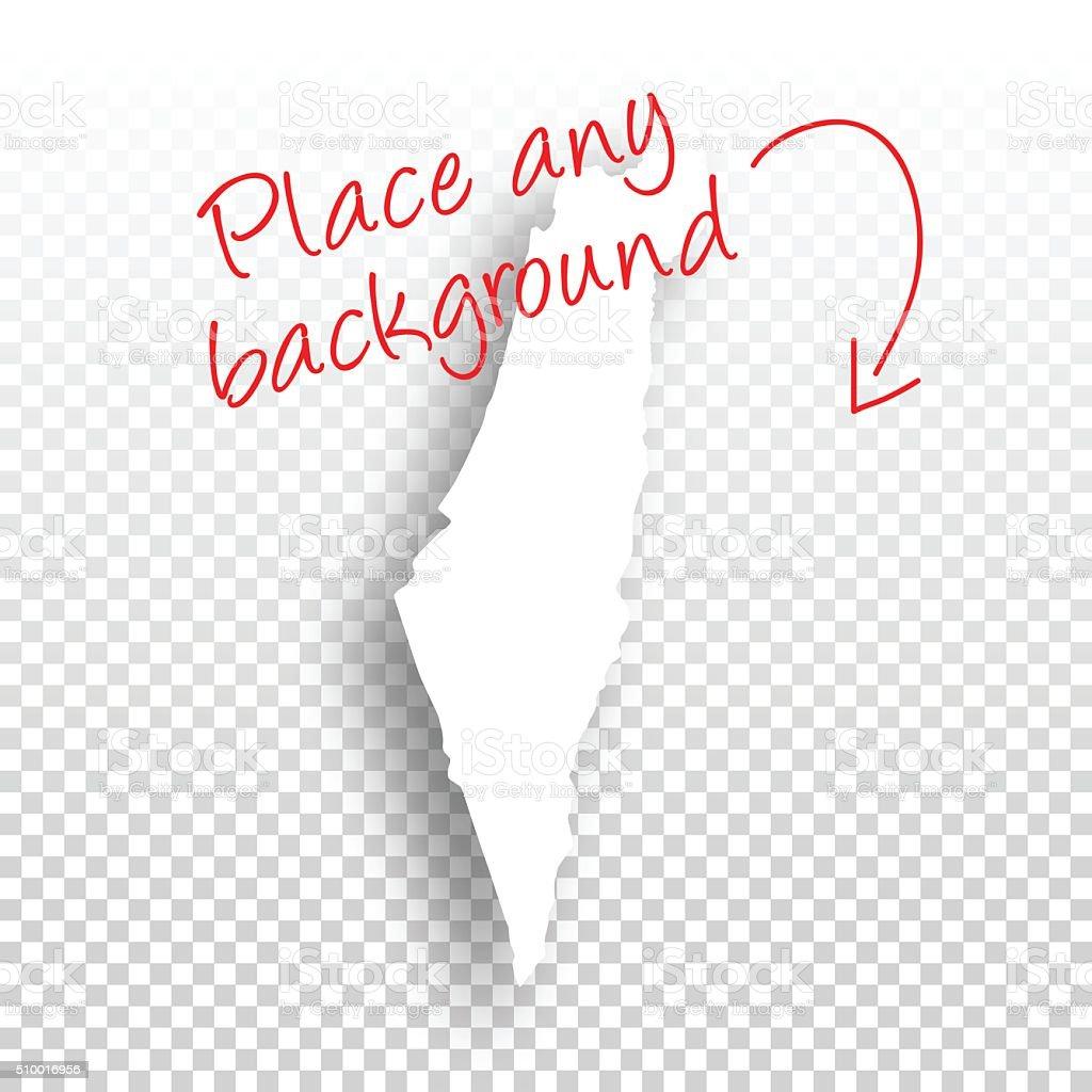Israel Map for design - Blank Background vector art illustration