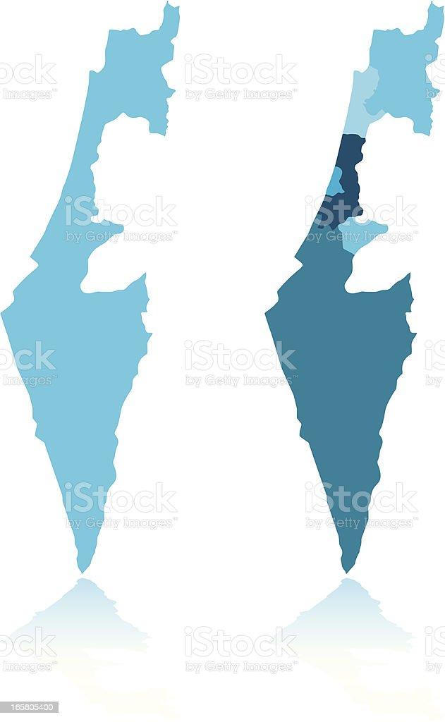 Israel Map vector art illustration