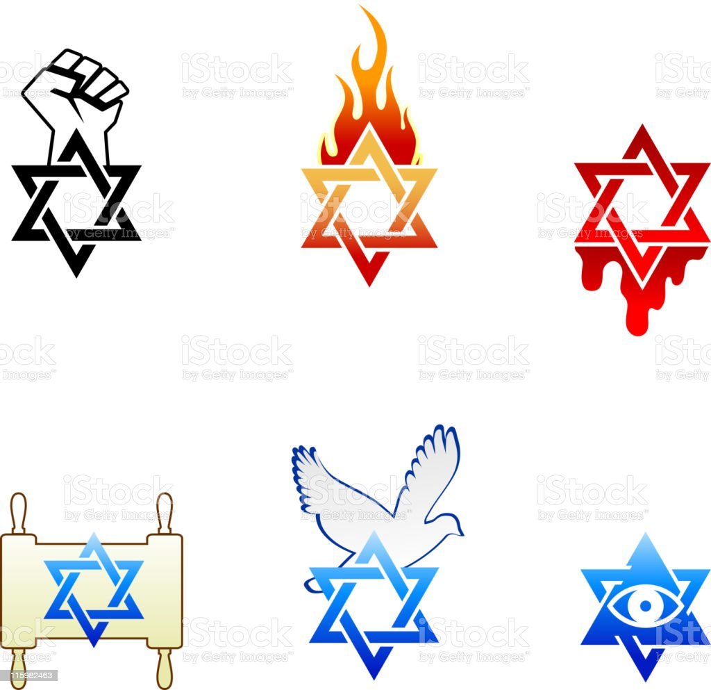 Israel symbols royalty-free stock vector art
