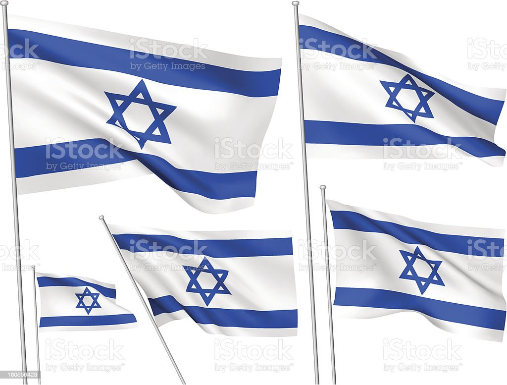 Israel vector flags royalty-free stock vector art