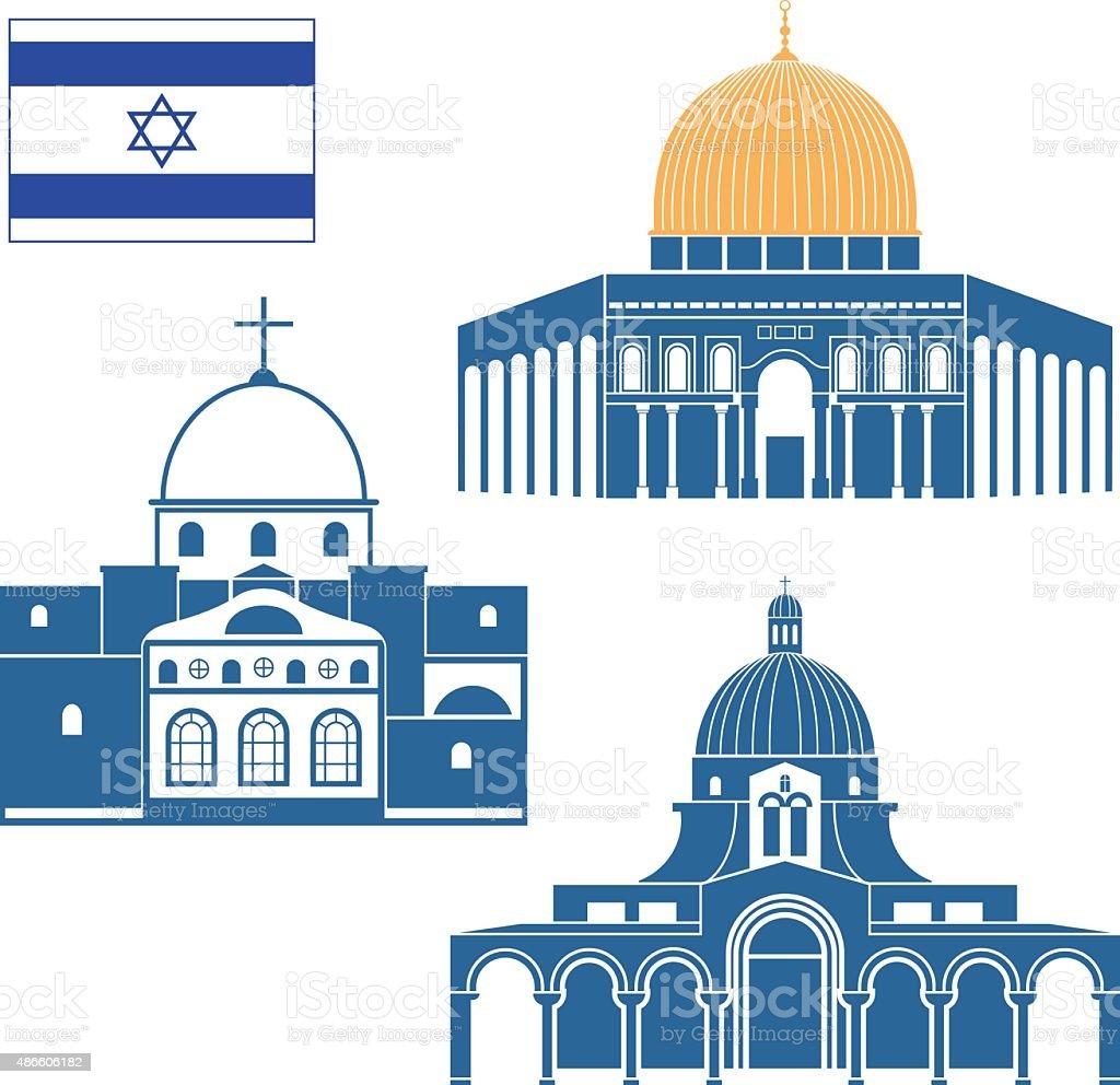 Israel vector art illustration