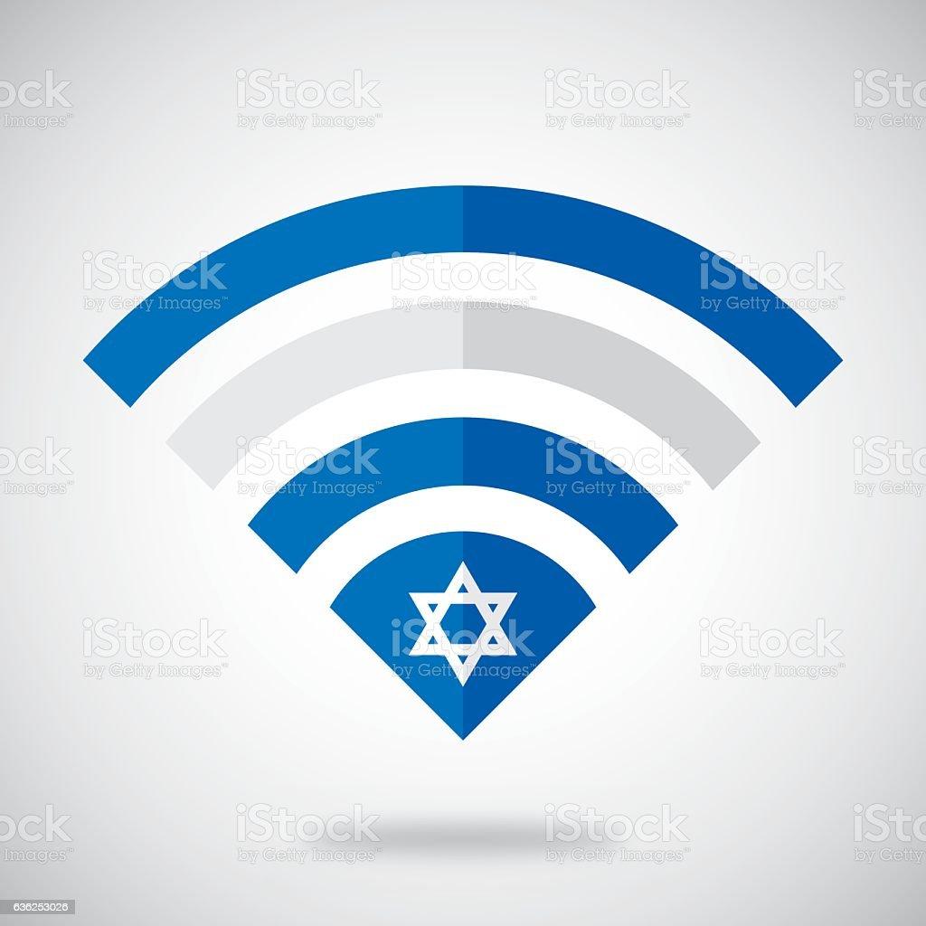 Israel Wifi vector art illustration