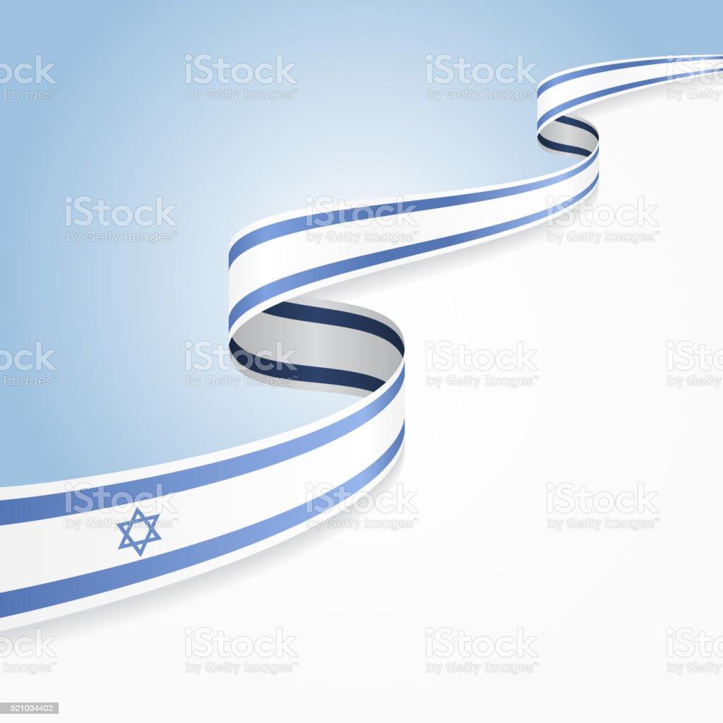 Israeli flag background. Vector illustration vector art illustration