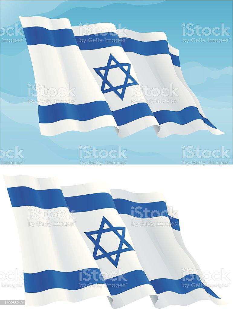 Israeli Flag royalty-free stock vector art