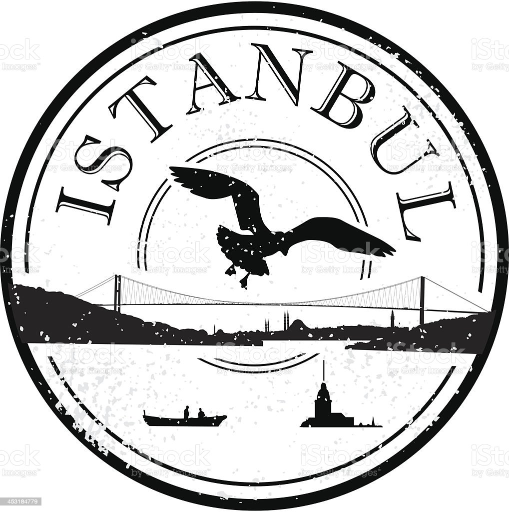 Istanbul grunge stamp royalty-free stock vector art