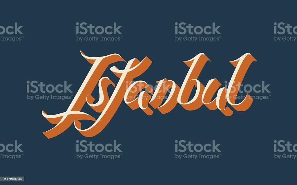 Istanbul lettering vector art illustration