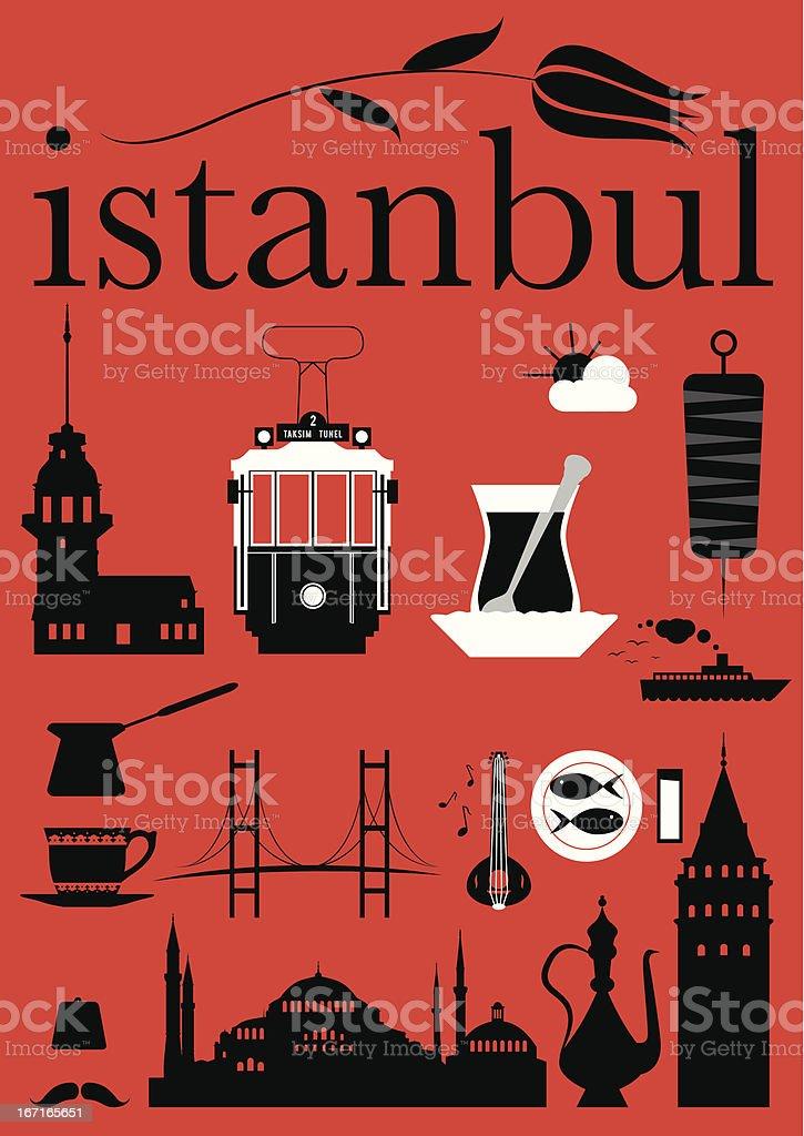 Istanbul Pictograms Set vector art illustration