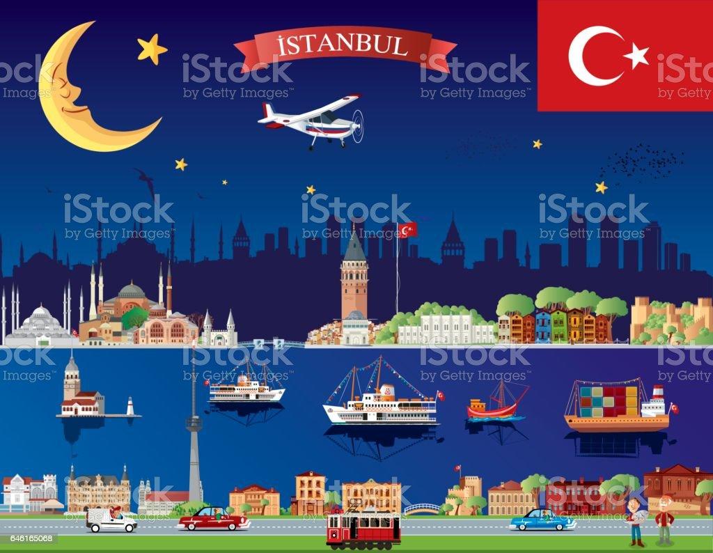 Istanbul vector art illustration