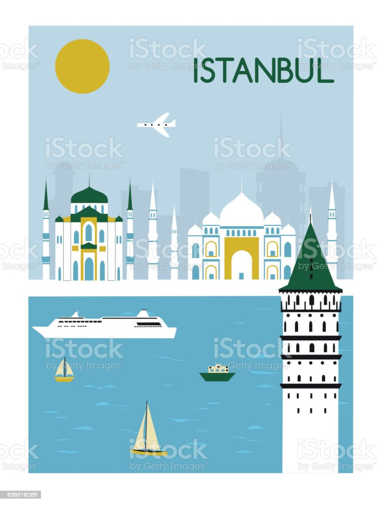 Istavbul city vector art illustration