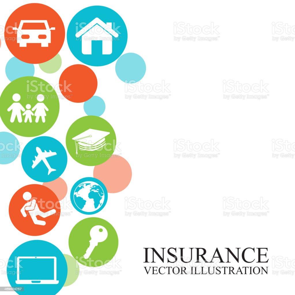 Isurance Design vector art illustration