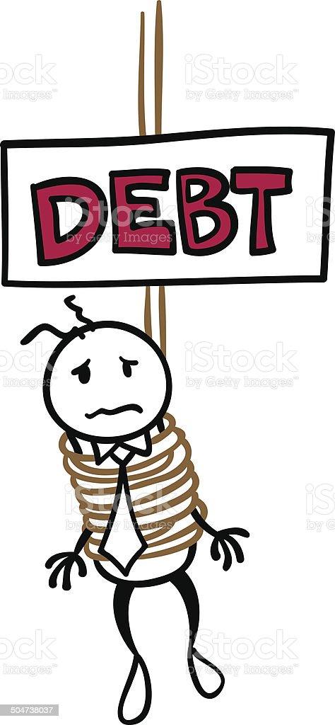 It is DEBT!! vector art illustration