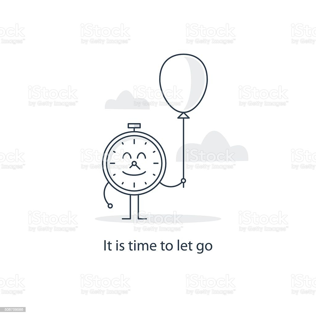 It is time to let go vector art illustration