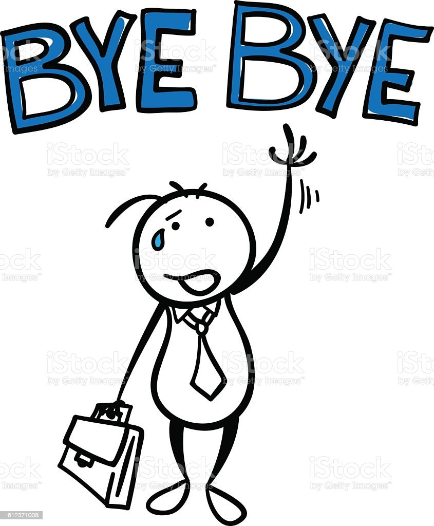 it is time to say goodbye stock vector art 612371008 istock goodbye clipart for coworkers goodbye clipart gif