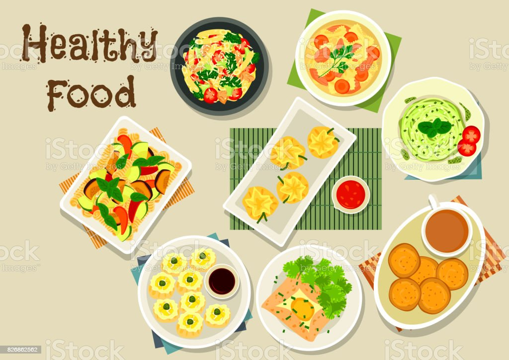 Italian and chinese cuisine icon for food design vector art illustration