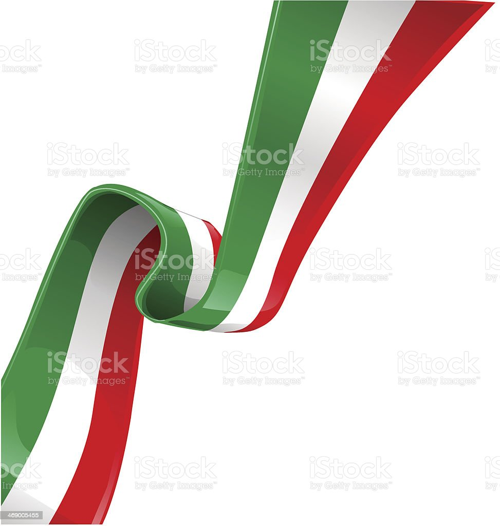 italian background with flag vector art illustration