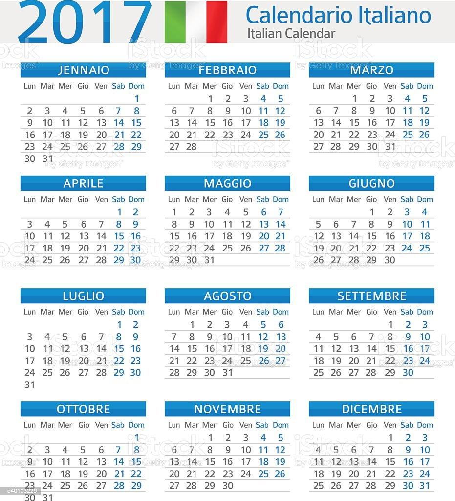 To Da Loos November 2011: Italian Calendar 2017 Calendario Italiano 2017 Stock