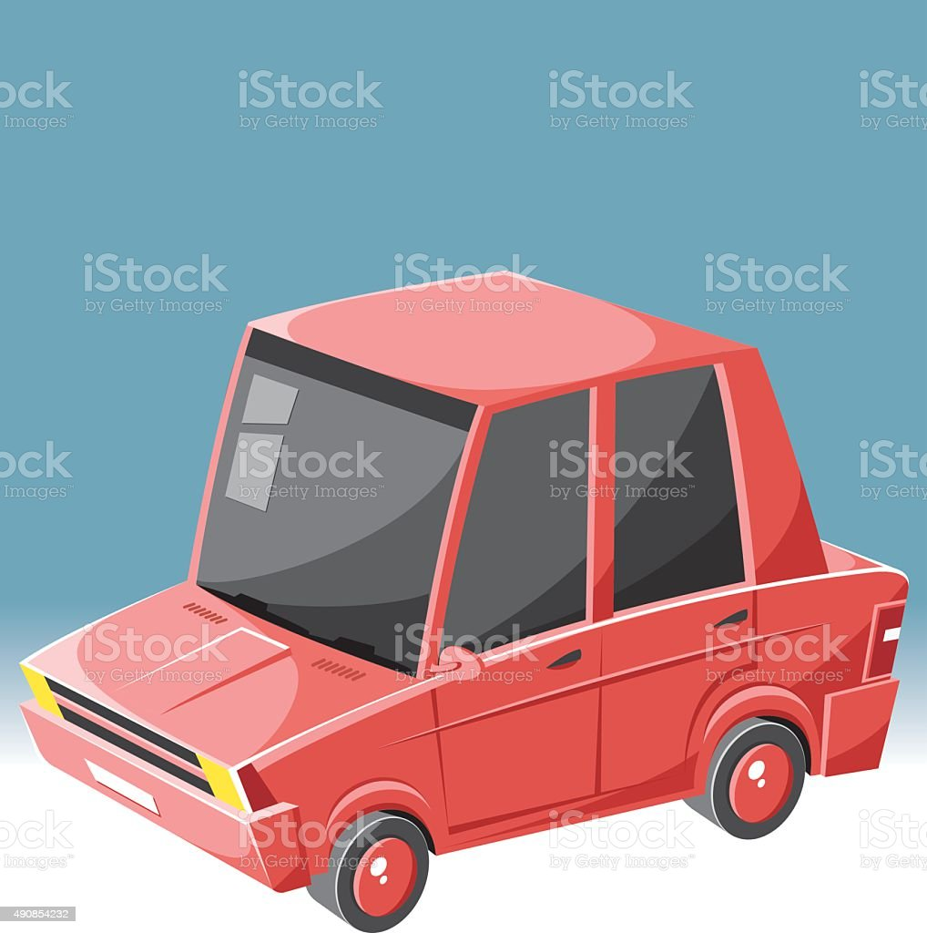 italian car vector art illustration